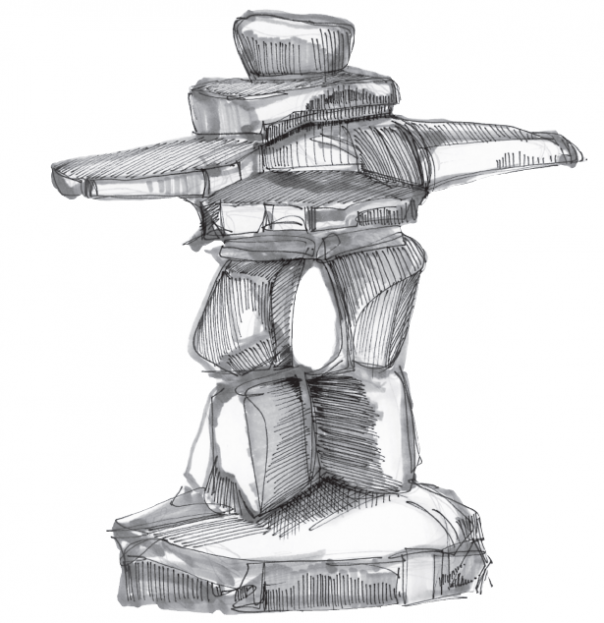 Inukshuk Drawing