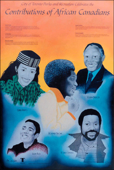 Contributions of African Canadians poster