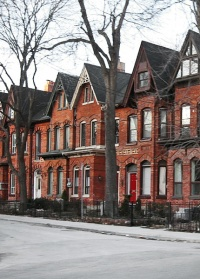 Toronto Row Houses by Wikimedia Commons