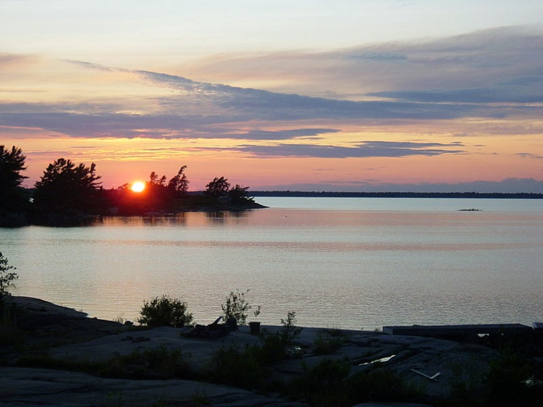 Sunset over Georgian Bay by Wikimedia Commons