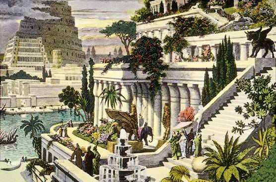 Hanging Gardens of Babylon by Wikimedia Commons 1