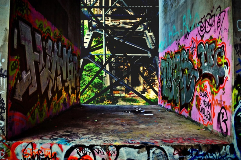 Abandoned Urban Spaces Graffiti