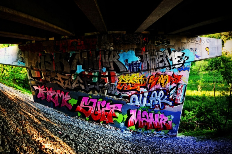Graffiti in Underpass Toronto