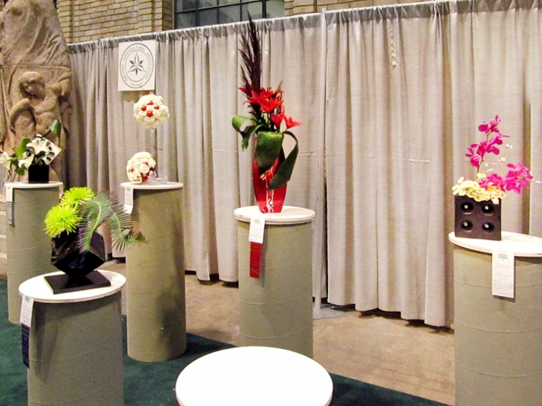 Floral design section of the Garden Show