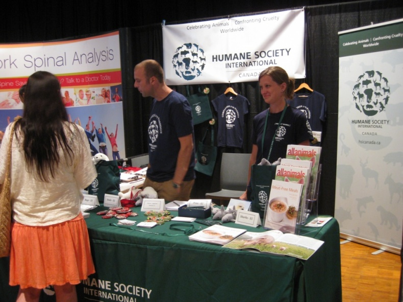 VegFest Humane Society Booth1