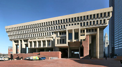 Boston City Hall by Wikimedia Commons