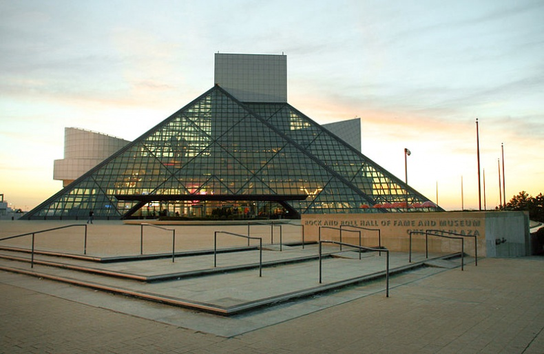 The Rock and Roll Hall of Fame and Museum by Wikimedia Commons