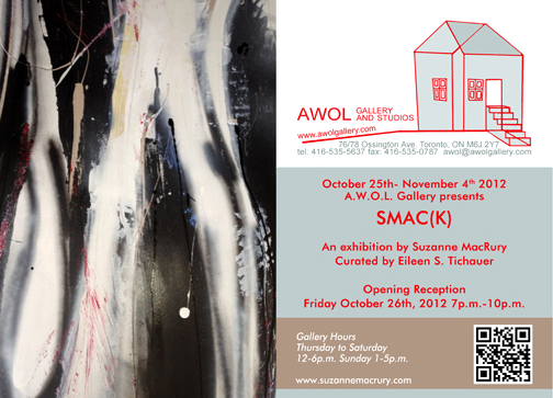 Suzanne MacRury smack in AWOL Gallery 1