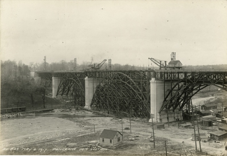 Bloor Viaduct construction Toronto archives