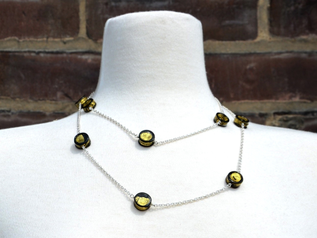Tank Jewelry and Beads Moon Necklace by Amy Johnson