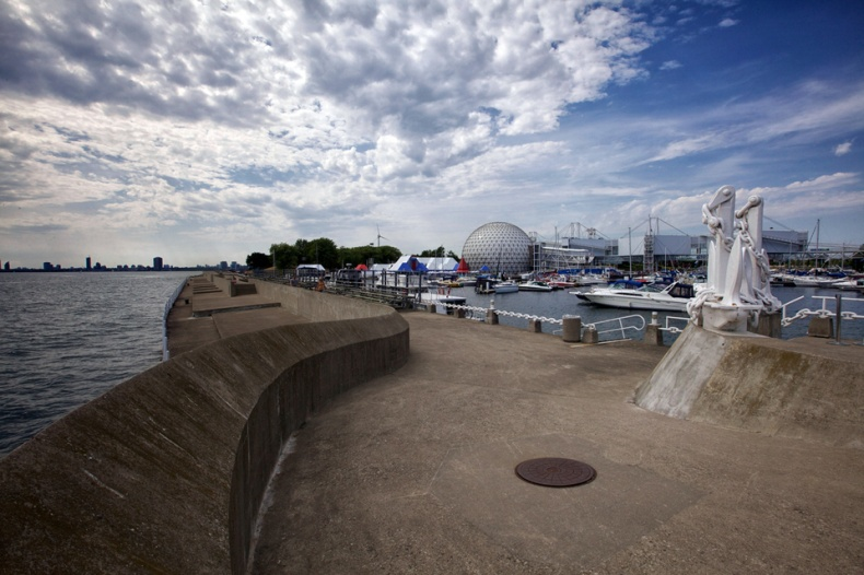 Ontario Place pier and attractions