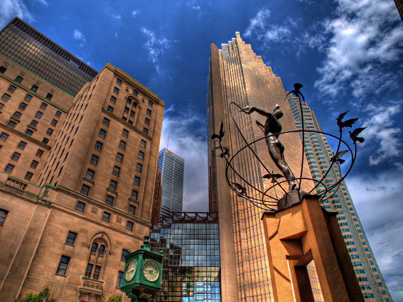 Famous Statue Near Union Station In Toronto