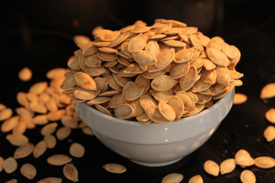 Roasted Pumpkin Seeds by Brian Jackson