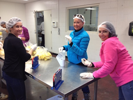 Volunteering at the Daily Bread Food Bank - Chicks