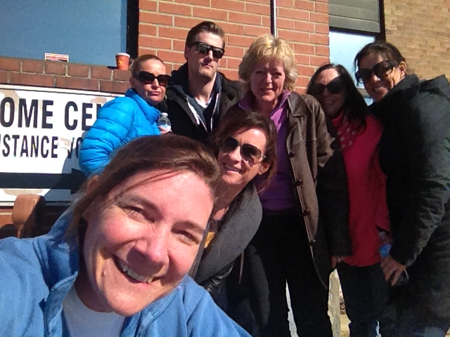 Volunteering at the Daily Bread Food Bank - Team Selfie